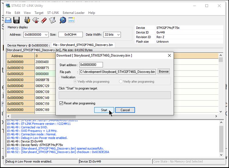 STM32 ST-LINK Utility